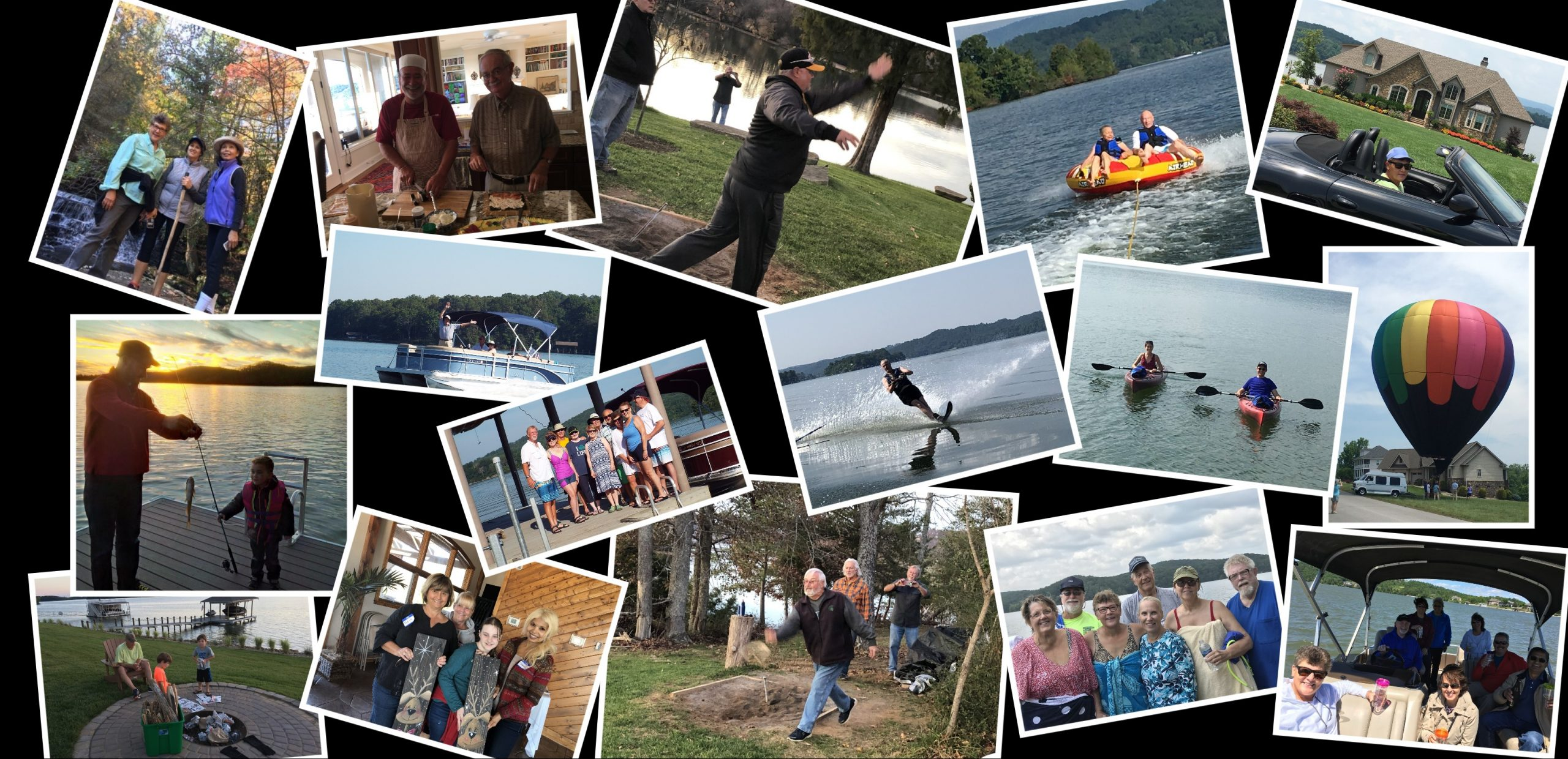 Activities collage at Grande Vista Bay