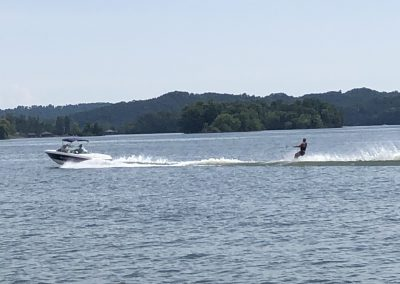 Boat and skier on WBL