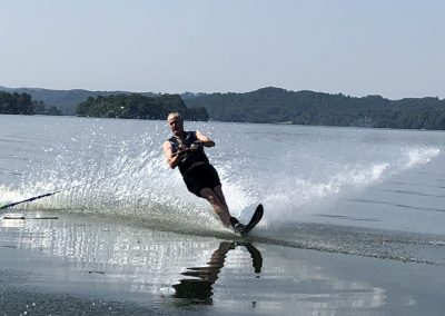 GVB owner water skiing on WBL
