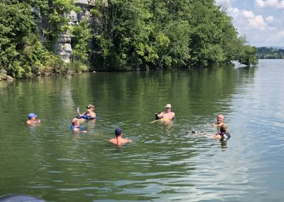 Swimmers relaxing in Watts Bar Lake