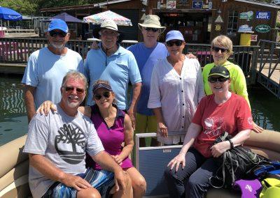 Boaters at the marina