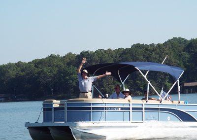 Pontoon boating on WBL