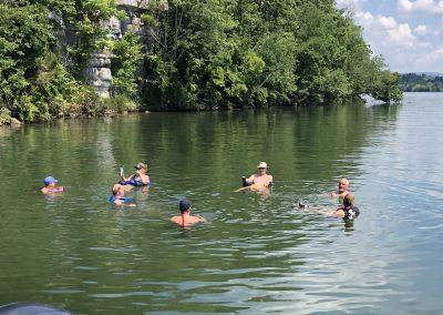 Swimming hole fun at GVB on Watts Bar Lake