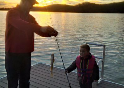 Father and son fishing at GVB