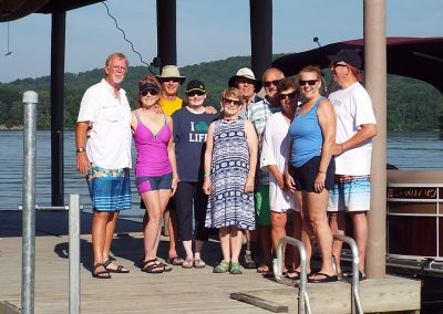 Boaters group picture at the docks