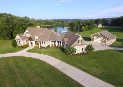 Large lakefront home with separate garage at GVB