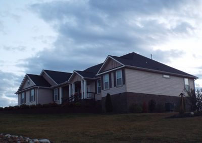 Ranch home front elevation at GVB