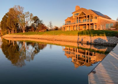 GVB cove home in golden light