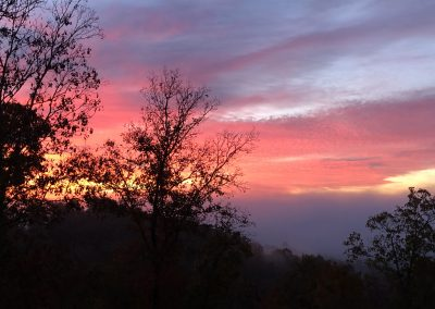 Pink and purple sunset over Grande Vista Bay