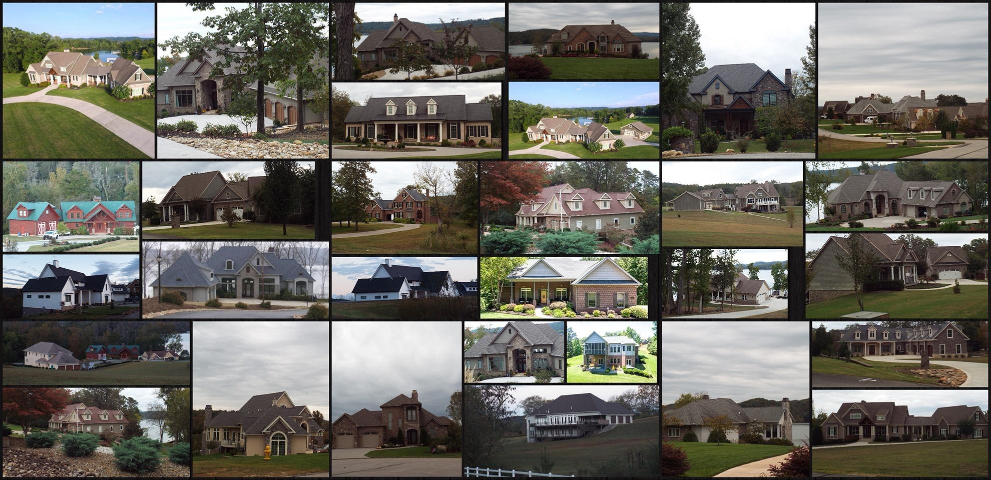 Collage of homes at Grande Vista Bay